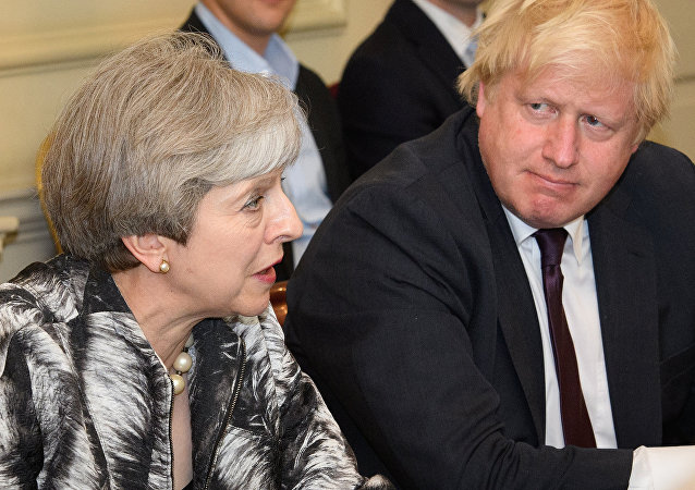 Theresa May et Boris Johnson