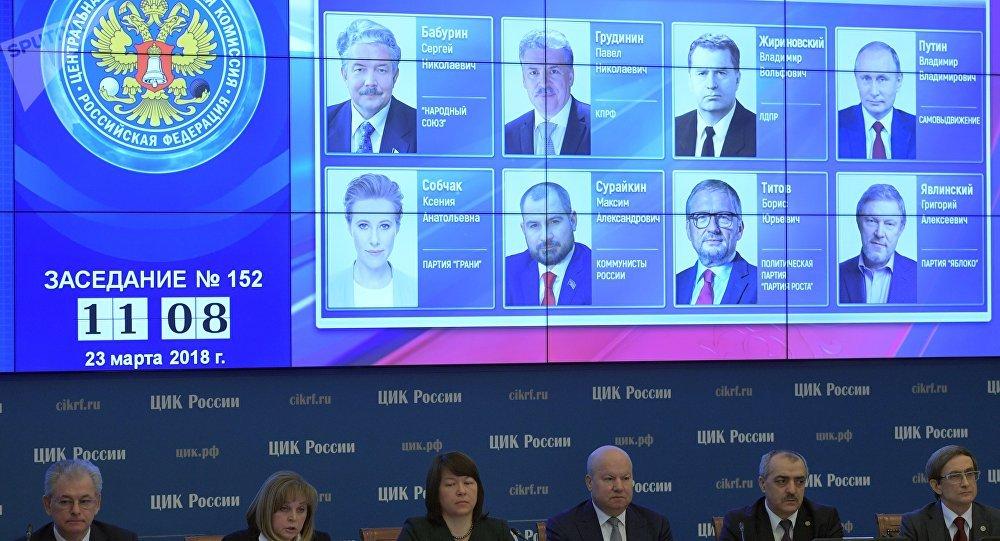 La Commission électorale centrale de Russie annonce les résultats définitifs de la présidentielle russe