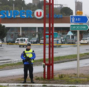 Pris d'otages dans un supermarché Super U à Trèbes, en France