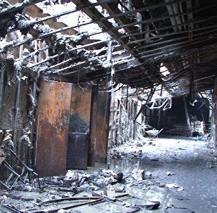 Le centre commercial Zimniaïa Vichnia de Kemerovo ravagé par un incendie