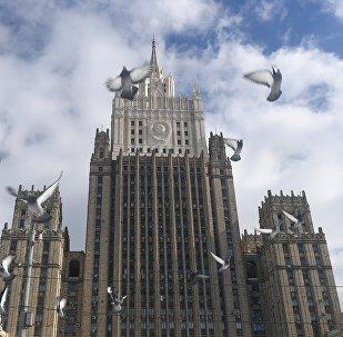 Le bâtiment du ministère des Affaires étrangères à Moscou