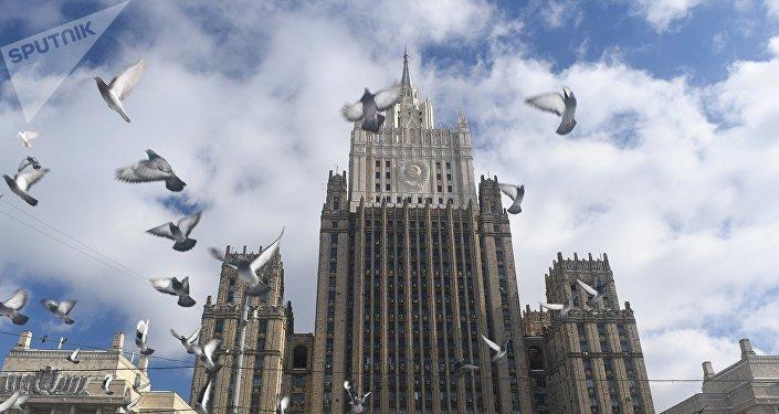 Le bâtiment du ministère des Affaires étrangères de la Fédération de Russie à Moscou