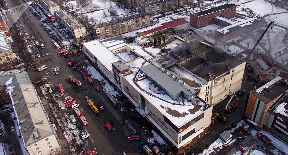 Incendie au centre commercial à Kemerovo