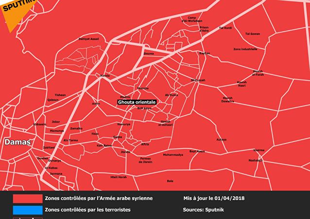 Carte de la Ghouta orientale