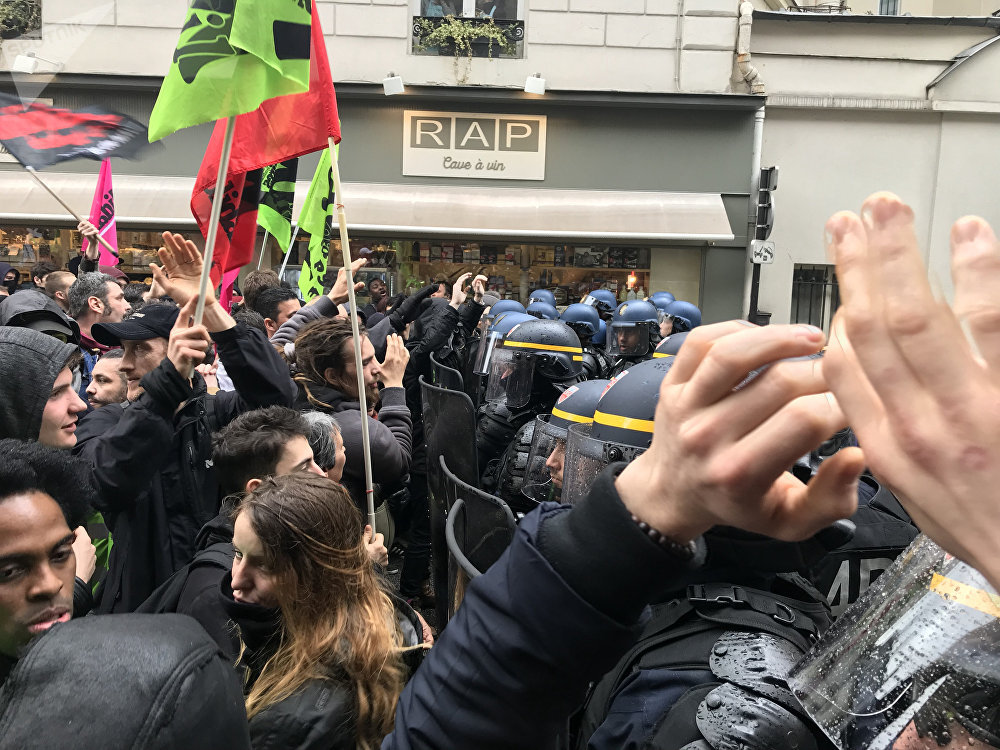 Manifestation des cheminots à Paris (3 avril 2018)