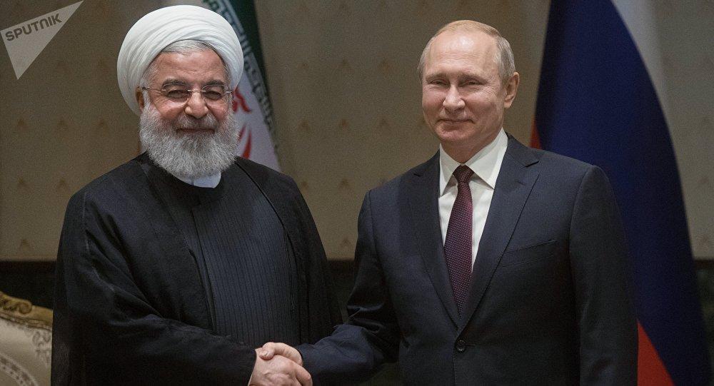 Vladimir Poutine et Hassan Rohani à Ankara