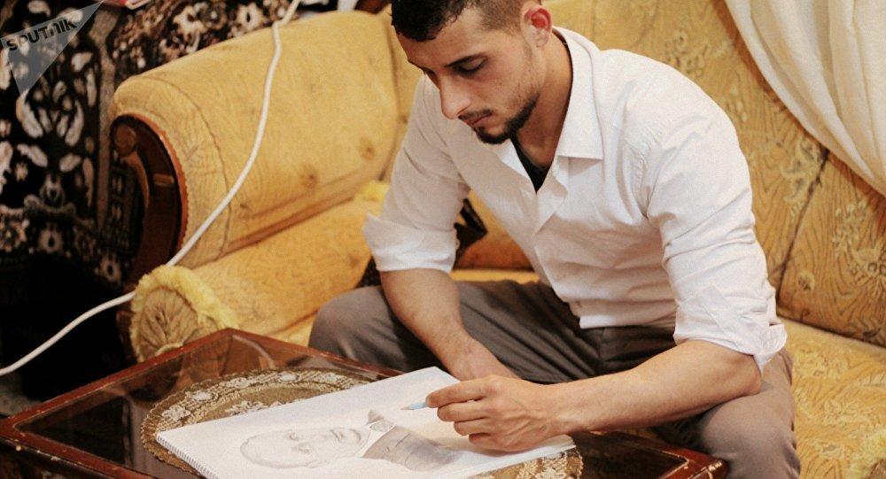 Cet ancien soldat syrien est devenu un peintre confirmé