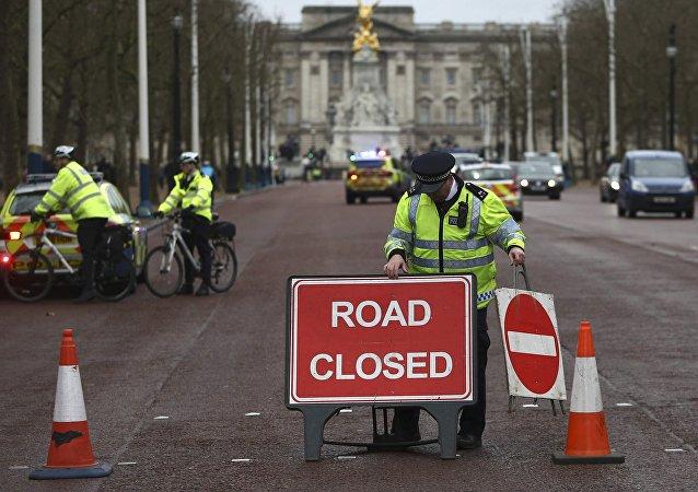 Une route près du palais de Buckingham