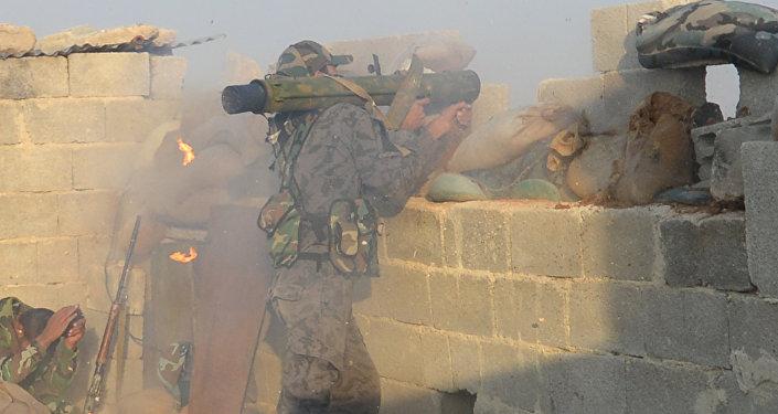 Les forces gouvernementales syriennes à Douma