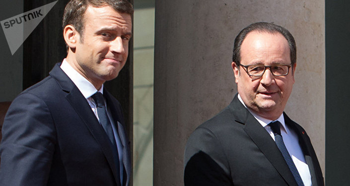 Hollande et Macron