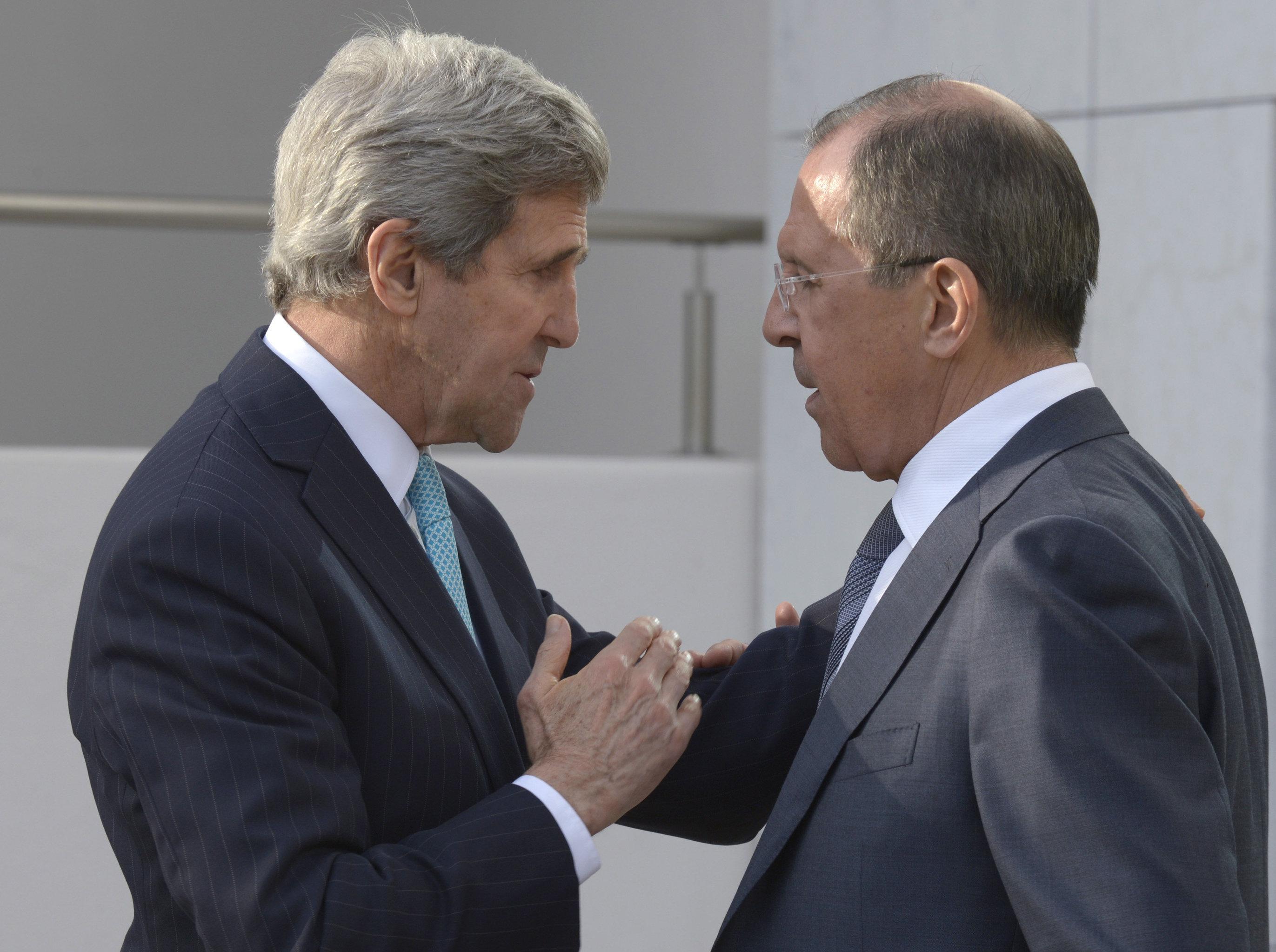 John Kerry et Sergueï Lavrov