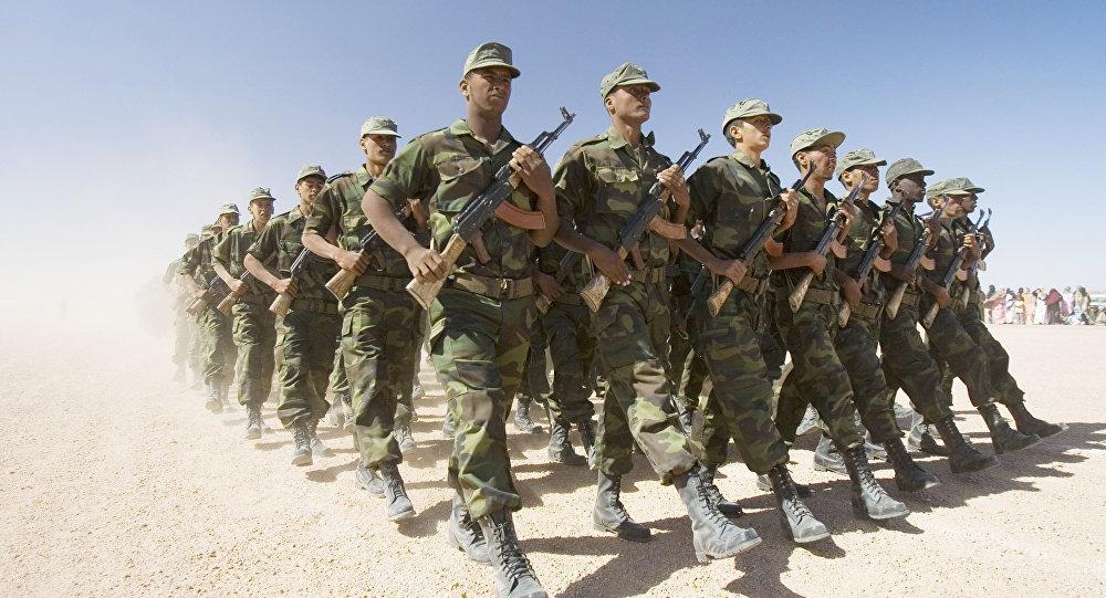 Des soldats du Front Polisario