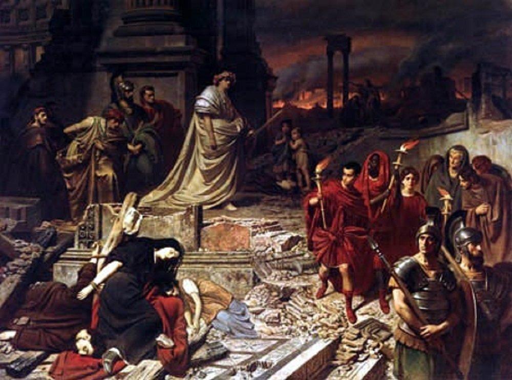 Néron sur les ruines de Rome, par Carl Theodor von Piloty