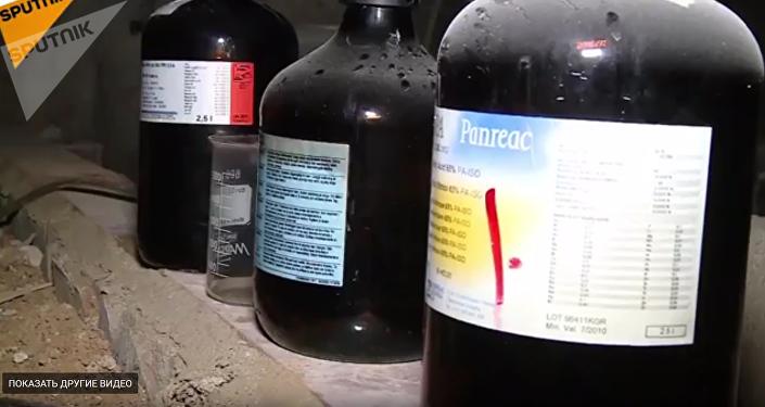 L'équipement du laboratoire découvert par les militaires russes dans la ville syrienne de Douma