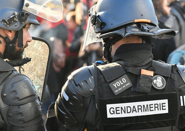 Акция против реформы образования в Париже