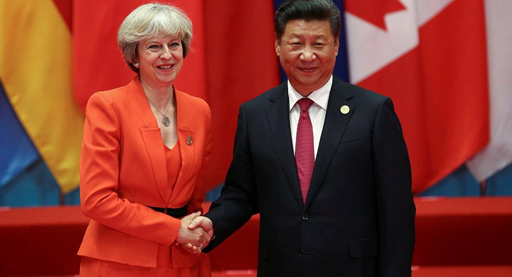 Xi Jinping et Theresa May