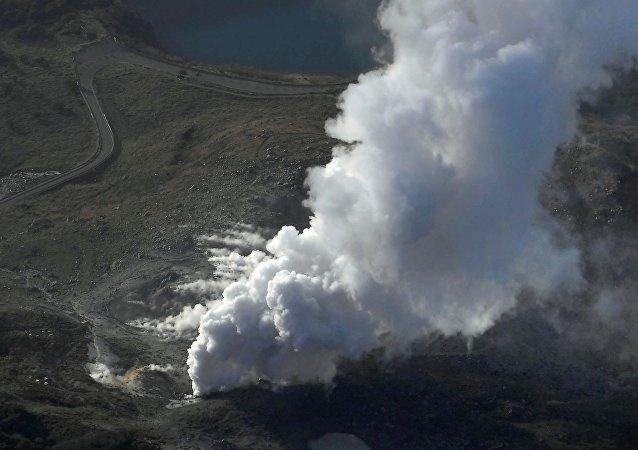 L'éruption du volcan Ioyama