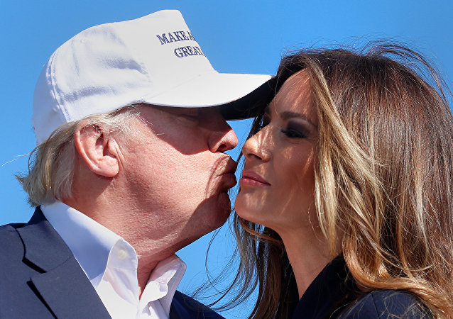 Donald Trump avec son épouse Melania