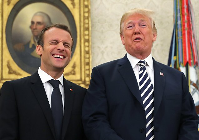 Donald Trump et Emmanuel Macron (image d'illustration)
