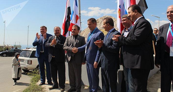 La délégation syrienne en Crimée, à Yalta