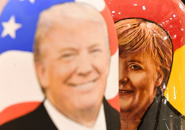 Donald Trump et Angela Merkel