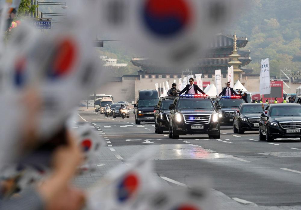 Rencontre des dirigeants sud-coréen et nord-coréen Moon Jae-in et Kim Jong-un