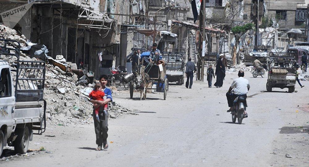 La ville de Douma après la libération