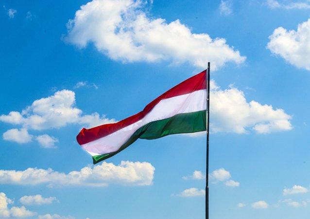 Un drapeau de l'Hongrie