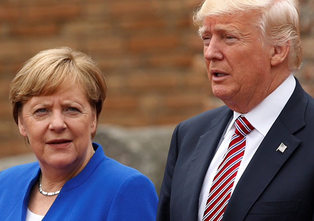 Donald Trump et Angela Merkel