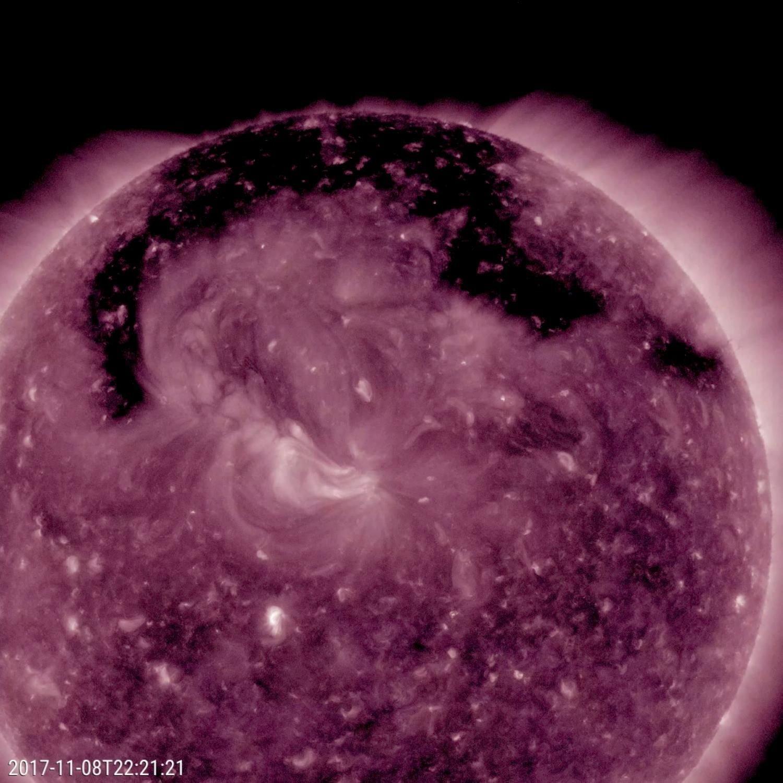 Un trou coronal à la surface du Soleil