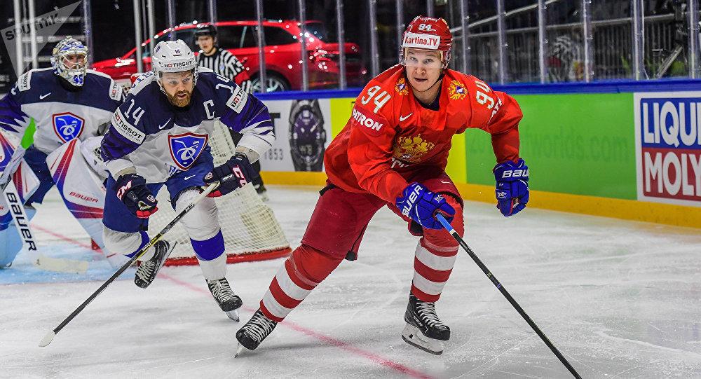 Alexandre Barabanov, joueur de la sélection russe de hockey sur glace