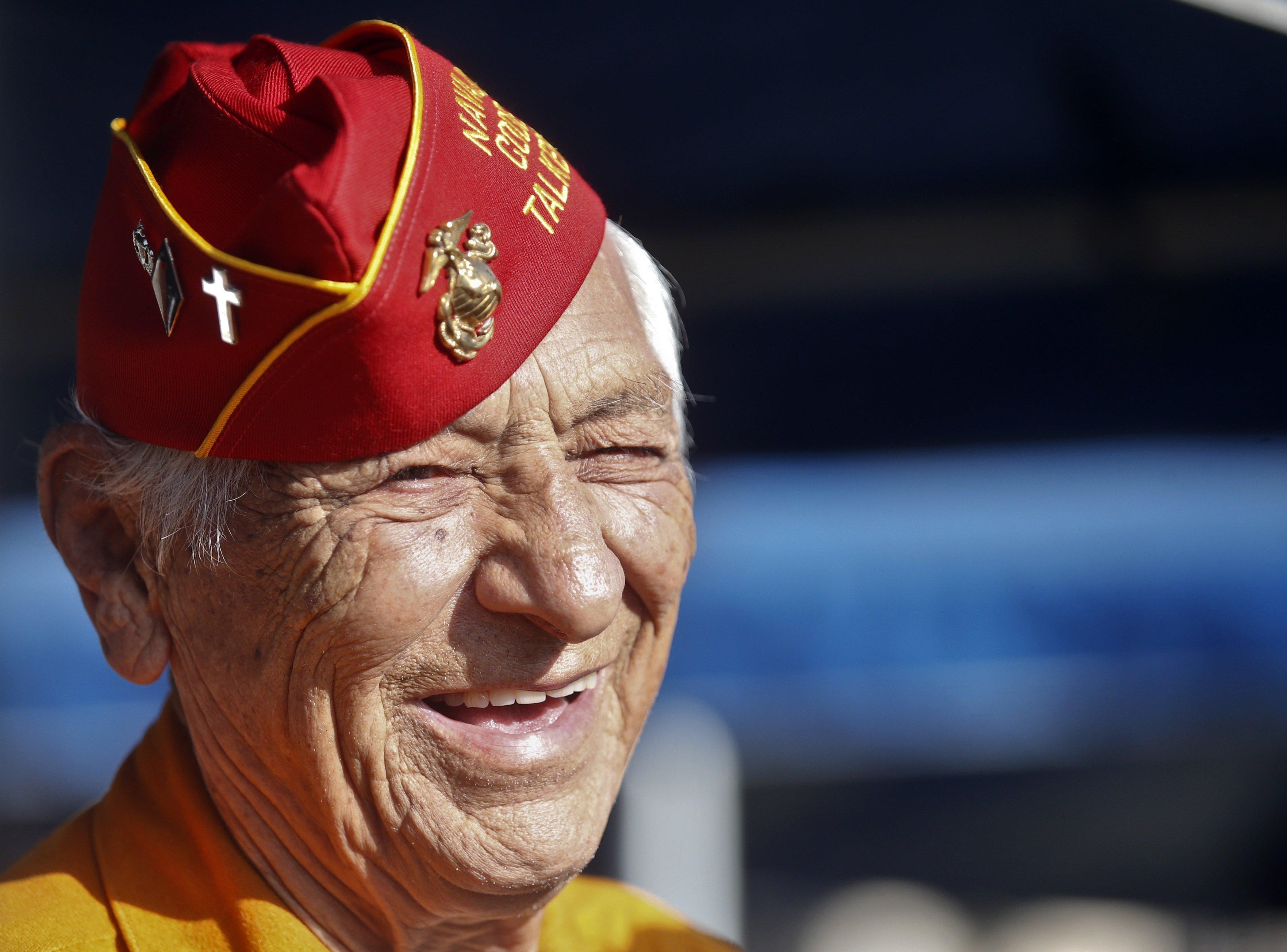 Le vétéran Navajo Roy Hawthorne