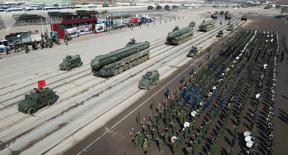 Une répétition du défilé de la Victoire dans la région de Moscou