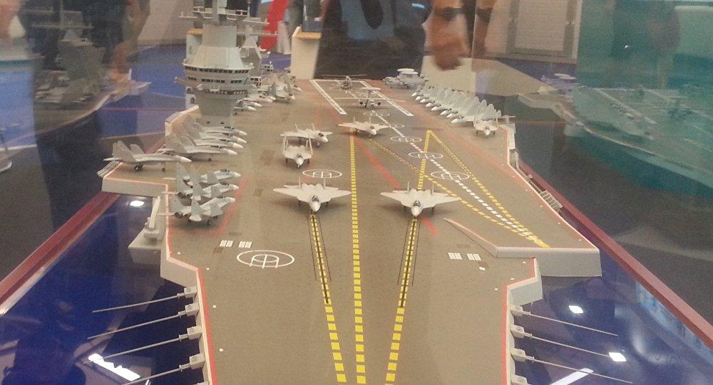 Maquette du porte-avions du projet 23000E. Photo d'archive