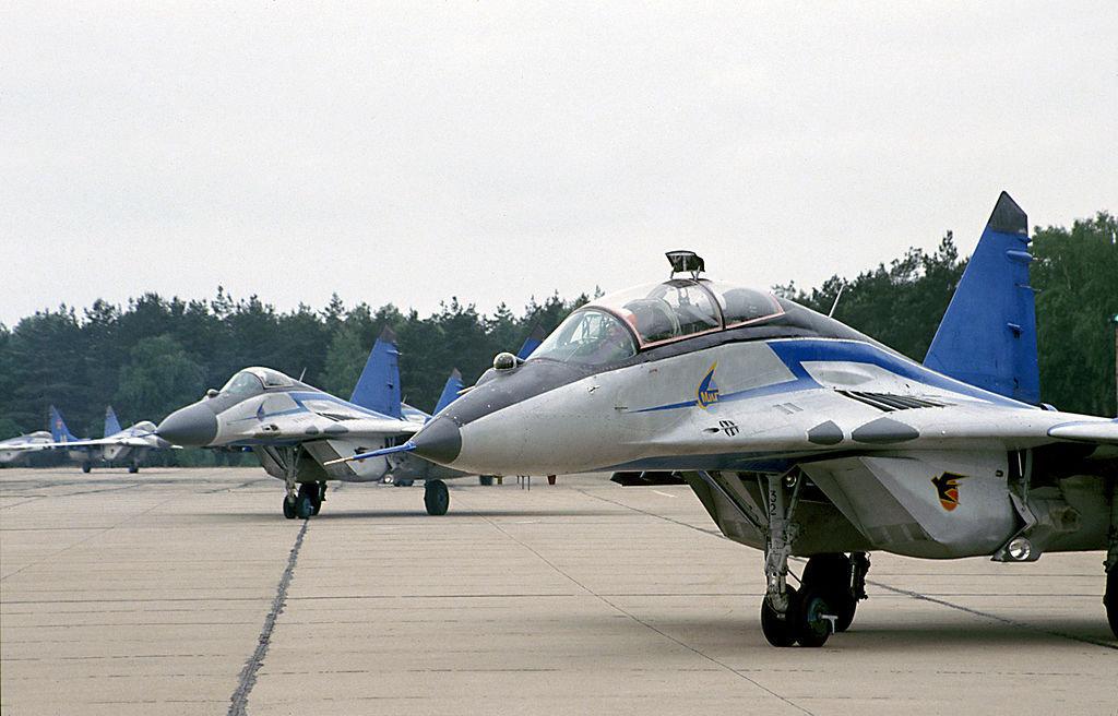 Un MiG-29 du groupe d'acrobatie aérienne Striji (archive photo)