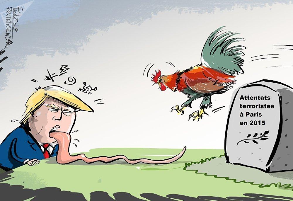 Les propos du Président Trump, qui a imité les terroristes du Bataclan