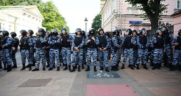 Les policiers russes
