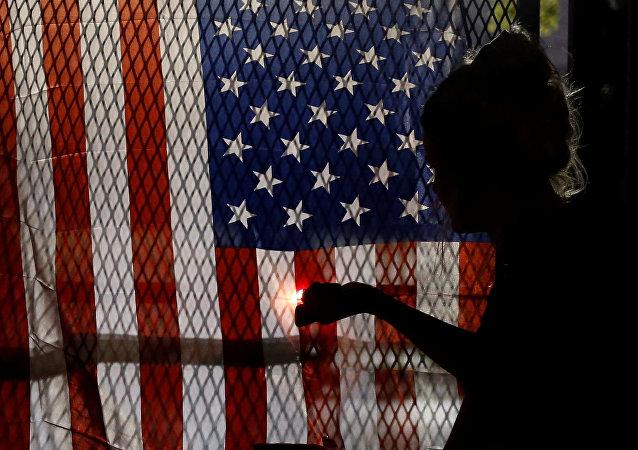 Un drapeau US