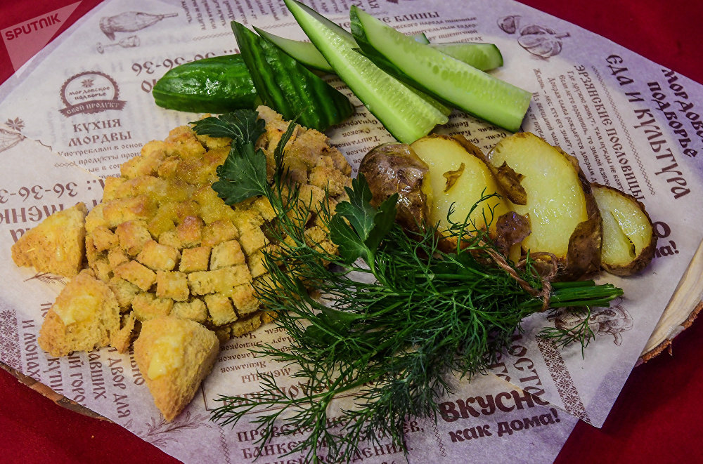 Medvejia Lapa, plat traditionnel de la cuisine mordve
