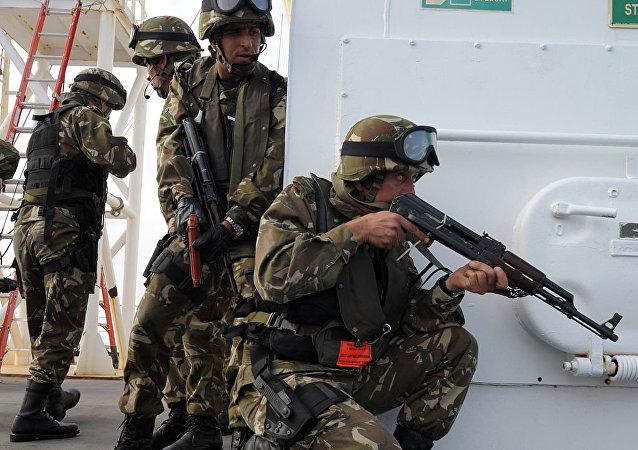 Des éléments des forces spéciales algériennes