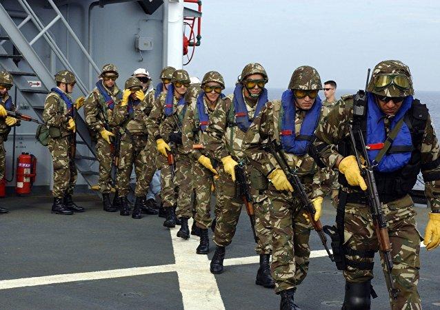 Des élements des forces spéciales algériennes