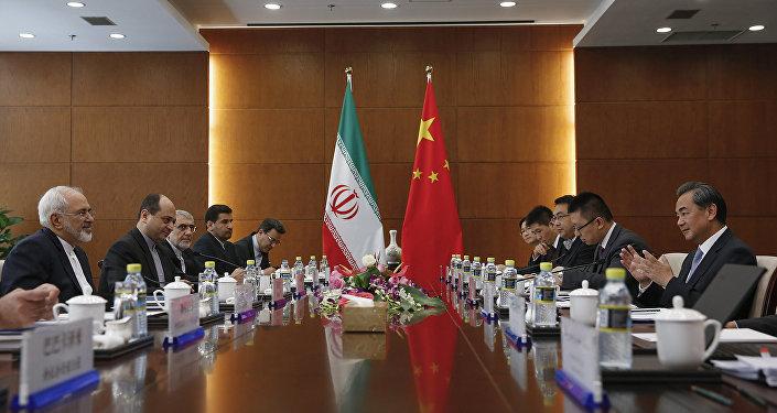 Ministres des Affaires étrangères d'Iran et de Chine