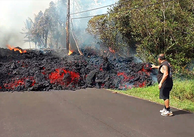 Éruption du volcan à Hawaï
