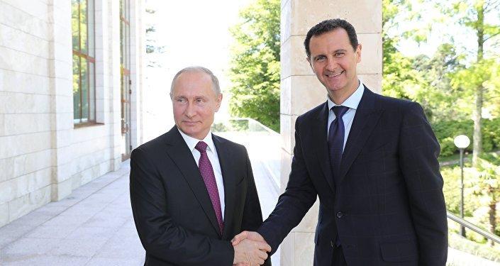 Rencontre entre Vladimir Poutine et Bachar el-Assad à Sotchi