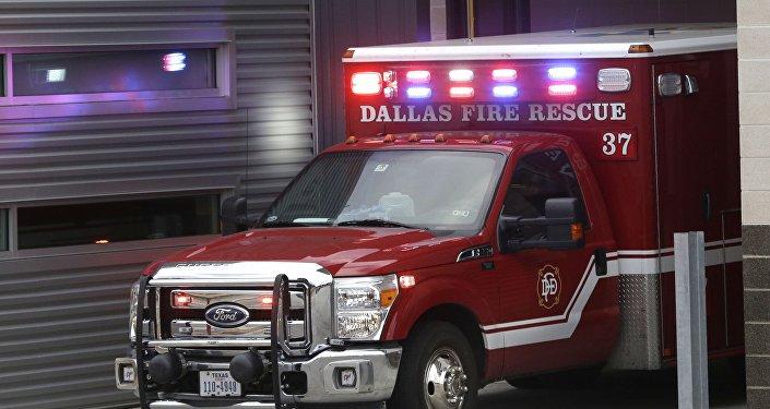 Ambulance de pompiers américains