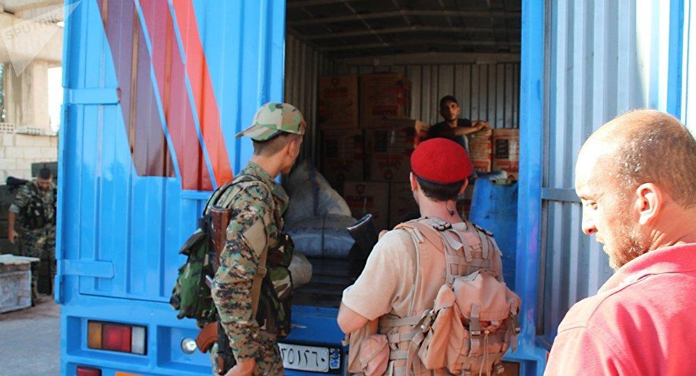 Un poste de contrôle de la police militaire russe en Syrie
