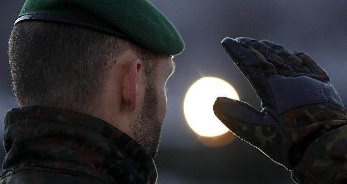 Un soldat de la Bundeswehr