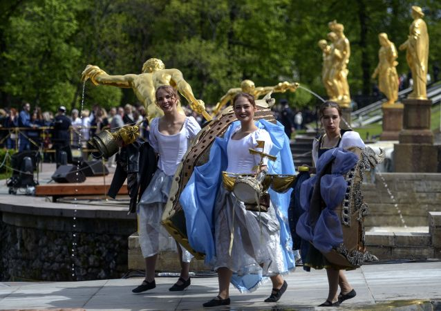 Fête des Fontaines à Saint-Pétersbourg