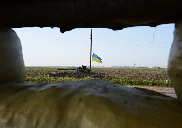 Char ukrainien dans le Donbass. Photo d'archive