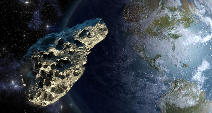 Un astéroïde. Image d'illustration